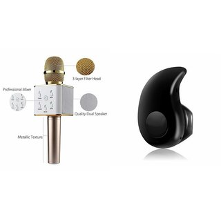 Zemini Q7 Microphone and Kaju Bluetooth Headset for GIONEE P5W(Q7 Mic and Karoke with bluetooth speaker | Kaju Bluetooth Headset With Mic)