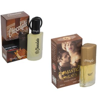 Skyedventures Set of 2 Chocolate 30ml-Romantic moment 20ml Perfume