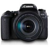 Canon EOS 77D DSLR Camera Body with Single Lens: EF-S18-135 IS USM (16 GB SD Card + Camera Bag)(Black)