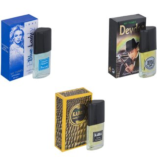 Skyedventures Set of 3   Blue Lady-Devdas-Kabra Yellow Perfume