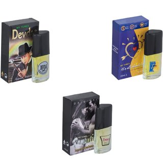 Skyedventures Set of 3   Devdas-ILU-Romantic Perfume