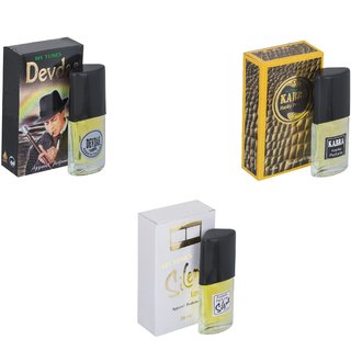 Skyedventures Set of 3   Devdas-Kabra Yellow-Silent love Perfume