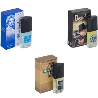 Skyedventures Set of 3   Blue Lady-Devdas-The Boss Perfume