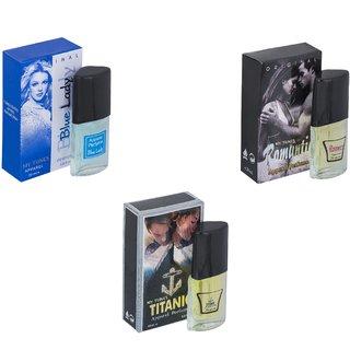 Skyedventures Set of 3   Blue Lady-Romantic-Titanic Perfume