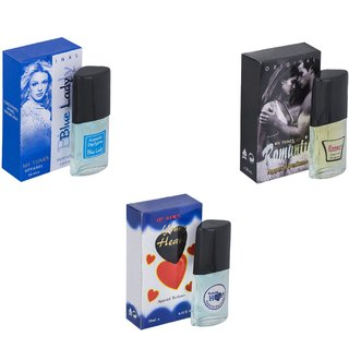 Skyedventures Set of 3   Blue Lady-Romantic-Younge Heart Blue Perfume
