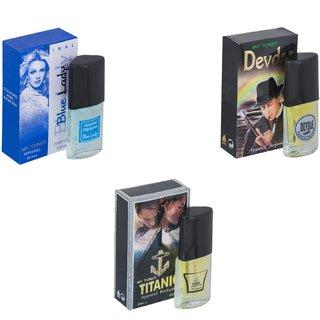 Skyedventures Set of 3   Blue Lady-Devdas-Titanic Perfume
