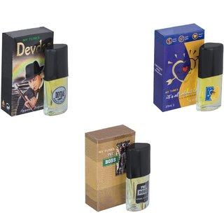 Skyedventures Set of 3   Devdas-ILU-The Boss Perfume