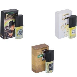 Skyedventures Set of 3   Devdas-Silent Love-The Boss Perfume