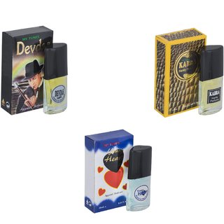 Skyedventures Set of 3   Devdas-Kabra Yellow-Younge Heart Blue Perfume