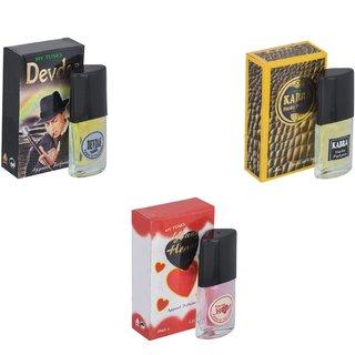 Skyedventures Set of 3   Devdas-Kabra Yellow-Younge Heart Red Perfume