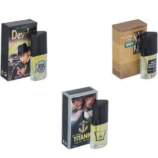 Skyedventures Set of 3   Devdas-The Boss-Titanic Perfume