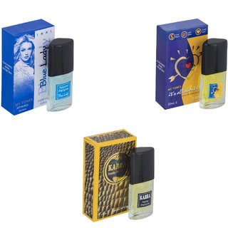 Skyedventures Set of 3   Blue Lady-ILU-Kabra Yellow Perfume