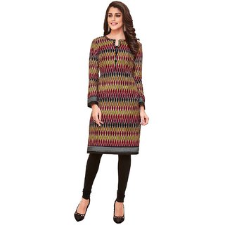 HRINKAR Multicolor and  Cotton Readymade women kurti formal - HRMKRT1654-L