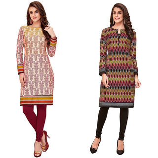 HRINKAR Multicolor and  Cotton Readymade kurtis for women - HRMKRCMB0036-L