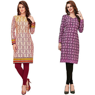 HRINKAR Multicolor and  Cotton Readymade kurti fancy for women - HRMKRCMB0059-L