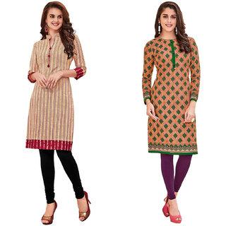 HRINKAR Multicolor and  Cotton Readymade women kurti formal - HRMKRCMB0120-L