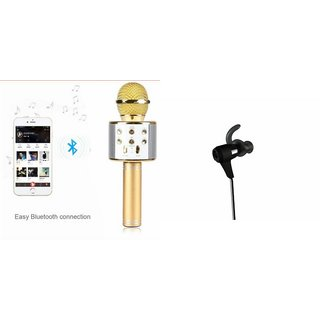 Zemini Q7 Microphone and Reflect Earphone Headset for INFOCUS BINGO 20(Q7 Mic and Karoke with bluetooth speaker | Reflect Earphone Headset )
