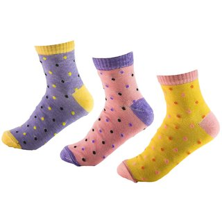 LADIES WOMEN ANKLE LENGTH COOL COTTON SOCKS Pack Of 3