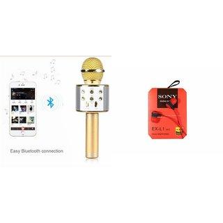Zemini Q7 Microphone and Earphone Headset for SONY xperia neo(Q7 Mic and Karoke with bluetooth speaker | Earphone Headset )