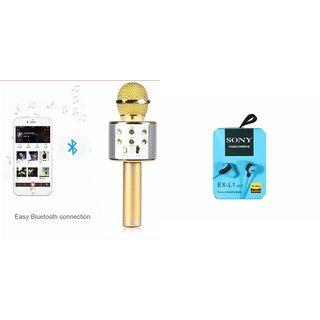 Zemini Q7 Microphone and Earphone Headset for OPPO MIRROR 3(Q7 Mic and Karoke with bluetooth speaker | Earphone Headset )