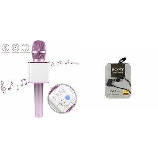 Zemini Q7 Microphone and Earphone Headset for MOTOROLA ex109(Q7 Mic and Karoke with bluetooth speaker | Earphone Headset )