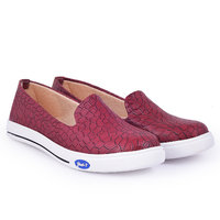 Trendy Look Maroon Sneakers