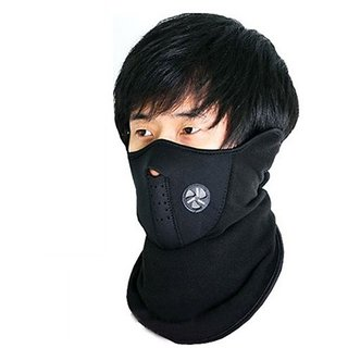 Pollution Protective Face Mask Mouth And Nose Respiration Outdoor Black