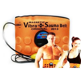 Vibrating Heating Slimming Tummy Waist Shaper Sauna Relief Belt (Orange)