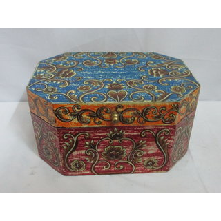 Stylish Wooden Jewelry Box Multicolor