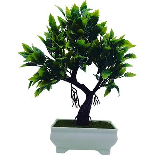 Random Artificial Bonsai Shemrock Tree