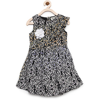 Bella Moda Girls Multi Printed Fit & Flare Dress
