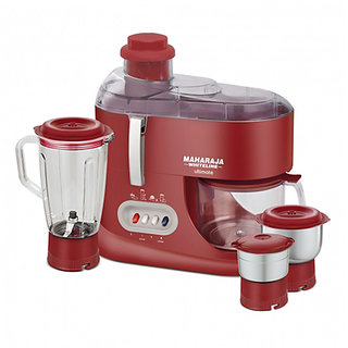 Maharaja Whiteline Ultimate Juicer Mixer Grinder Red And Silver