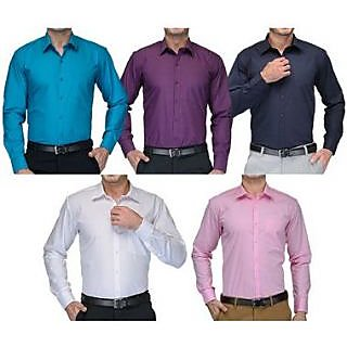 Pack of 5 Full Sleeves Cotton Shirts Combo