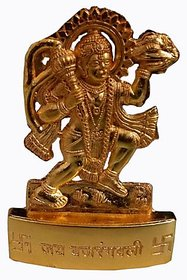 Goldcave Multicolor Gold Plated Metal Hanuman Idol (3 inch) - Suitable for Car or Home