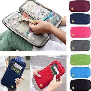 Travel Passport Cover Holder, Passport Organizer ( Assorted Colors )