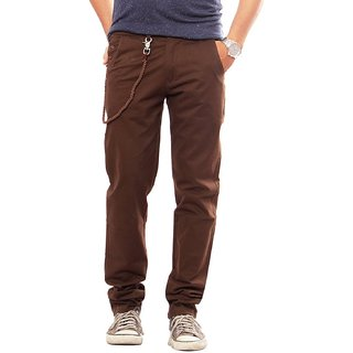 100 Cotton Lycra Slim Fit stretchable Mens Spike Trouser by Uber Urban