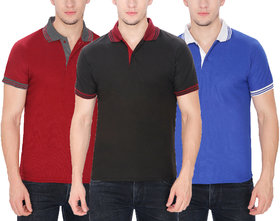Pack of 3-Polo Collar T-Shirts by Baremoda (Multicolor)