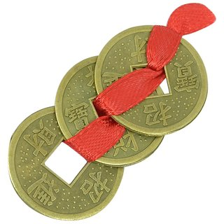 FENGSHUI LUCKY COINS , SET OF 3 LUCKY  COINS , LUCKY COIN ,