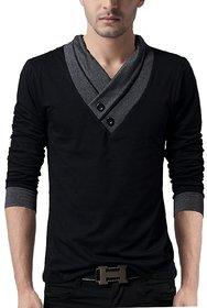V neck stylish full sleeved t shirt for men