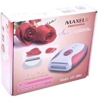 Maxel Rechargeable Lady Shaver Trimmer Razor AK2001