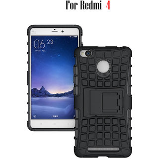 KickStand Hybrid Warrior Defender Back Cover Cover For Redmi 4