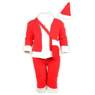 Kids Fancy Dress Christmas Party Wear Santa Claus Costume for Both Boys  Girls