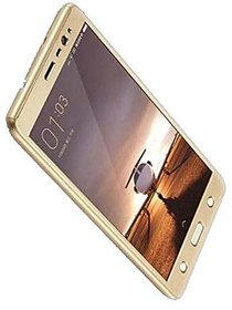 360 Degree Full Body Protection Front Back Cover (iPaky Style) with Tempered Glass for OPPO F3 (Gold) - By Mobimon