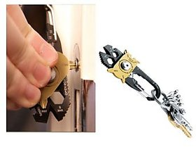 20-In-1 Pocket Portable Multi Utility Tool  Keychain (Outdoor Camping Key Ring)