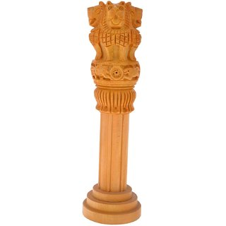Beautiful Wooden Ashok Stambh for use Home Decore Independence Day Gift Item