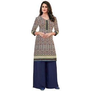 HRINKAR Multicolor and Beige Cotton Readymade kurti for girls stylish - HRMKRT1679-L