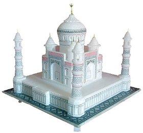 Taj Mahal White Marble 9 inch