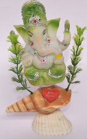 Ganesh Statue Made Of Sea Shell