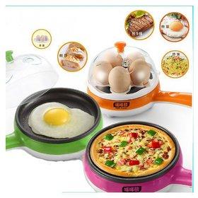 Hy Touch MultiFunction Electric Egg Boiler Poacher Steamer Non Stick Frying Pan Magic Pot