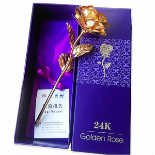 Valentines gift 24k golden rose with gift box and carry bag